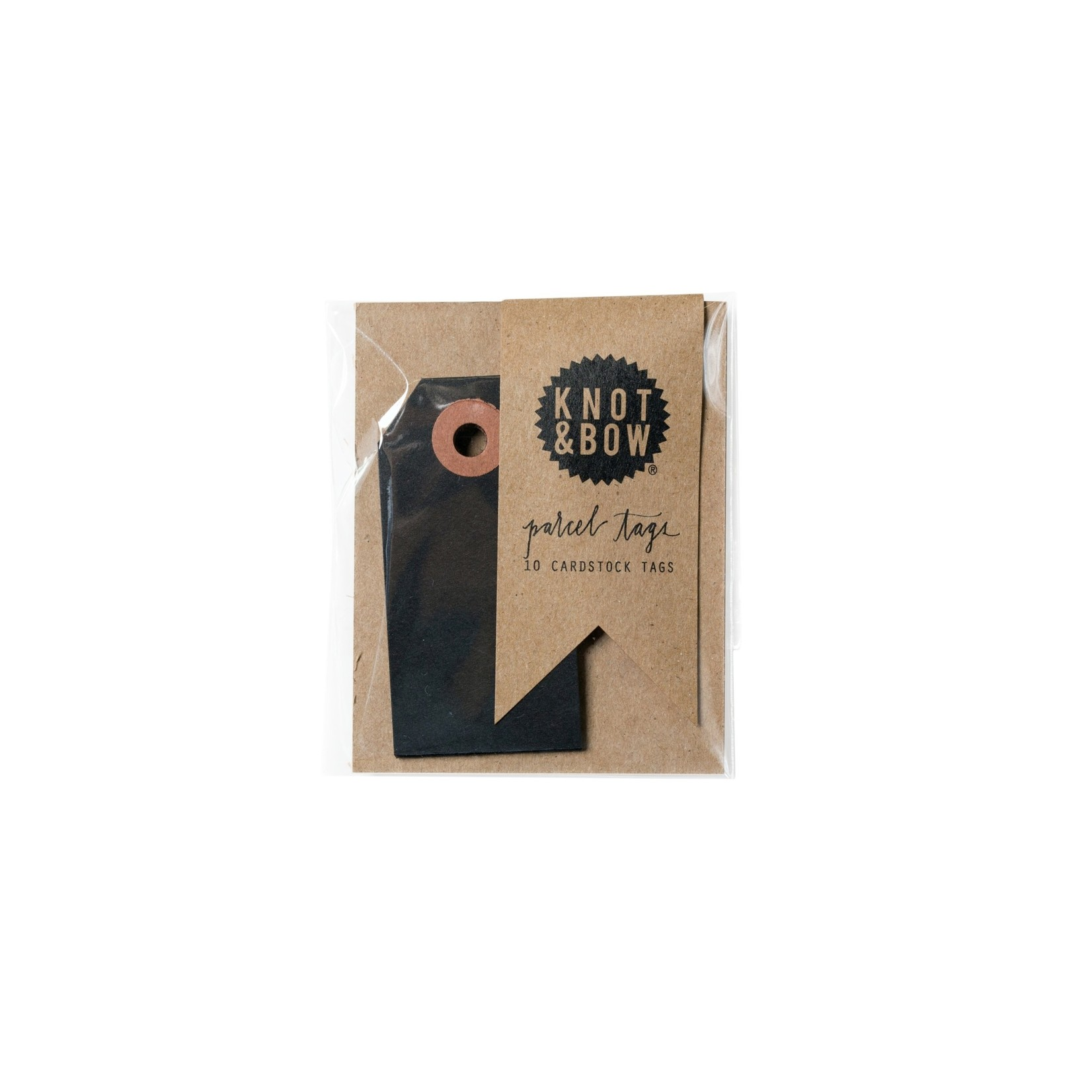 Knot & Bow Knot & Bow Parcel Tags Black