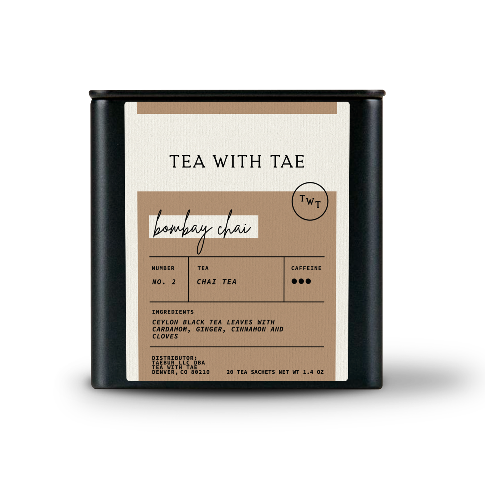 Tea with Tae Tea with Tae Bombay Chai Large Tea Tin