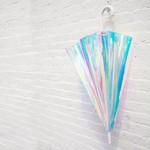 FCTRY FCTRY - Holographic Umbrella - White