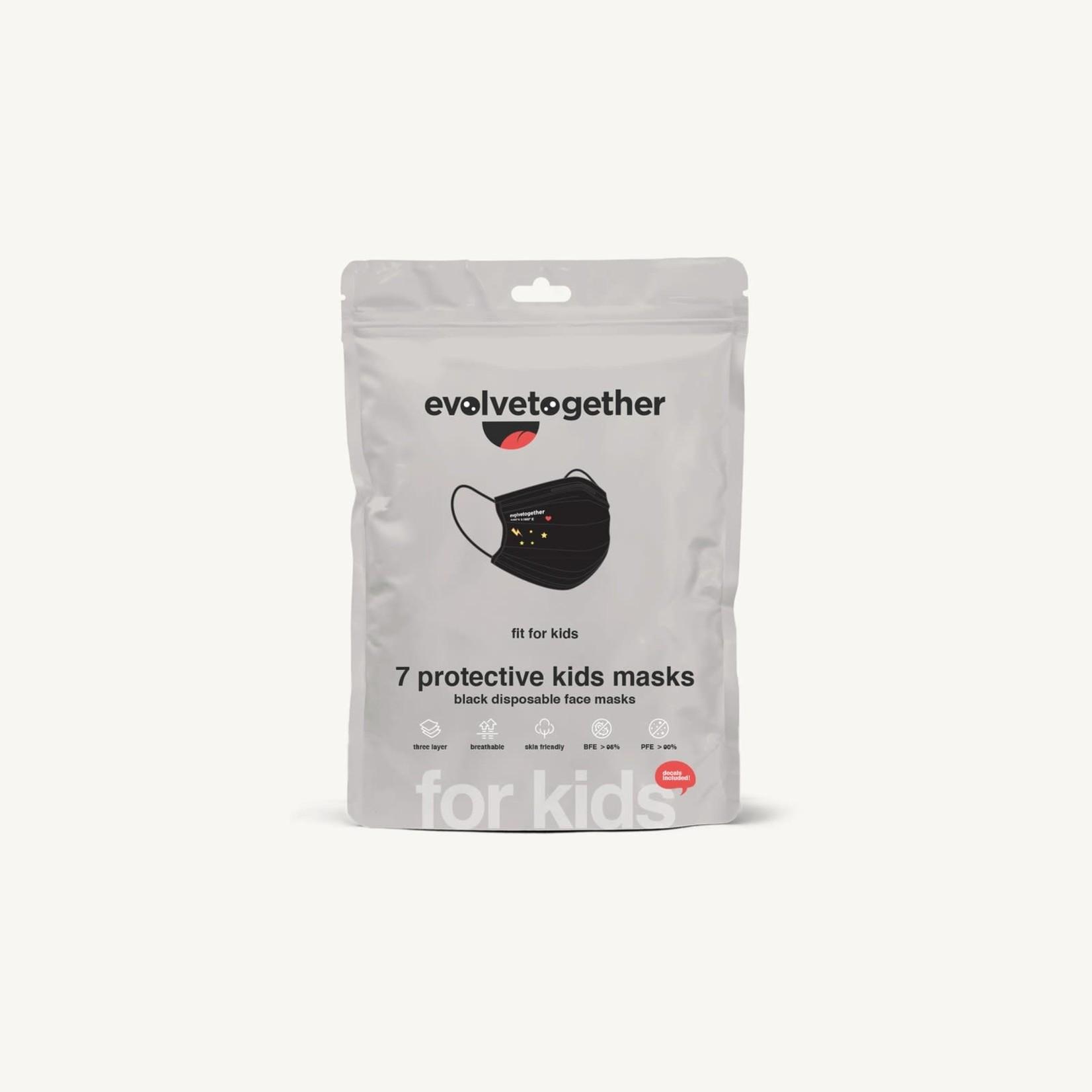Evolvetogether Evolvetogether milan - 7 kids black face masks
