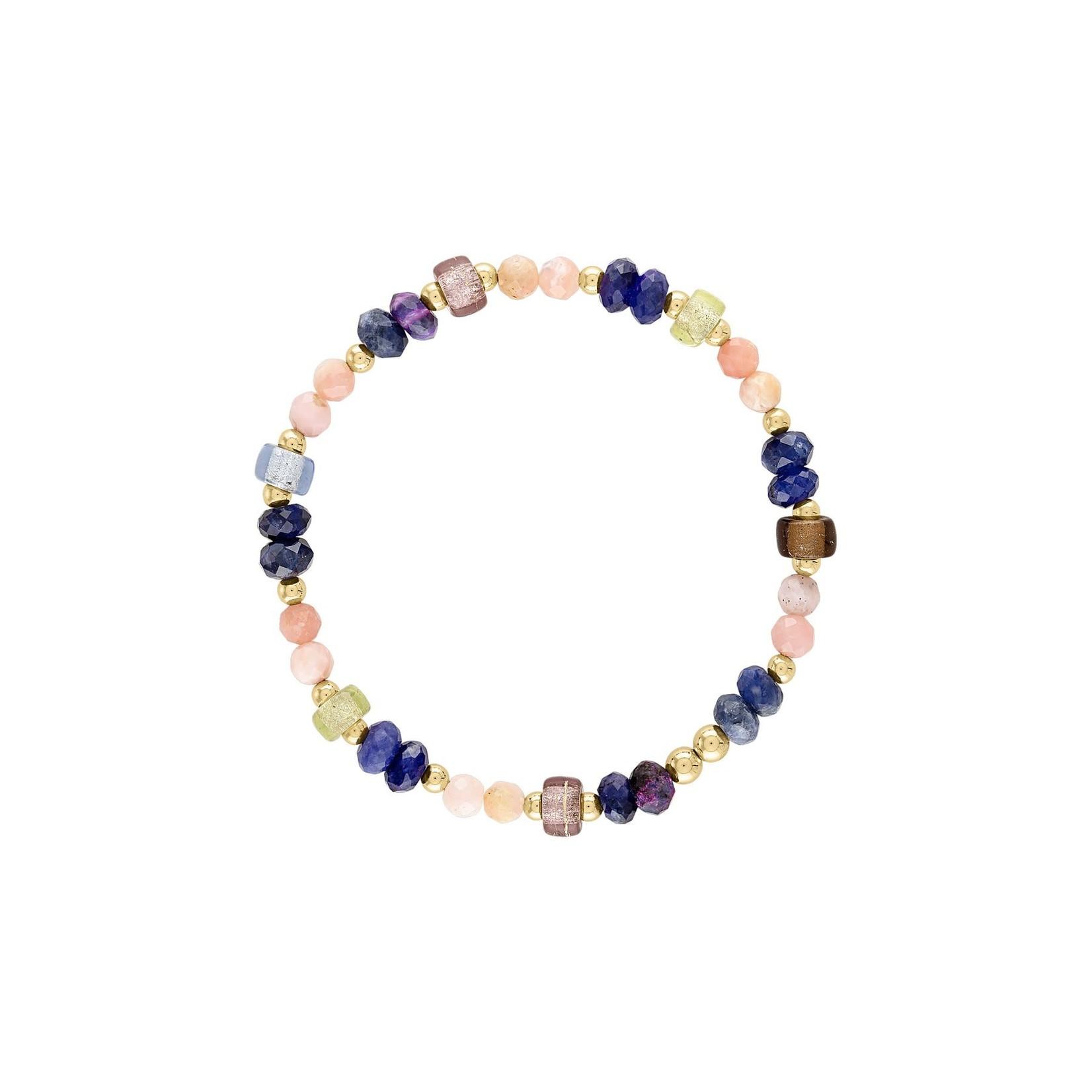 "Olivia Le Olivia Le Celine Glass Bead Bracelet 6.5"""