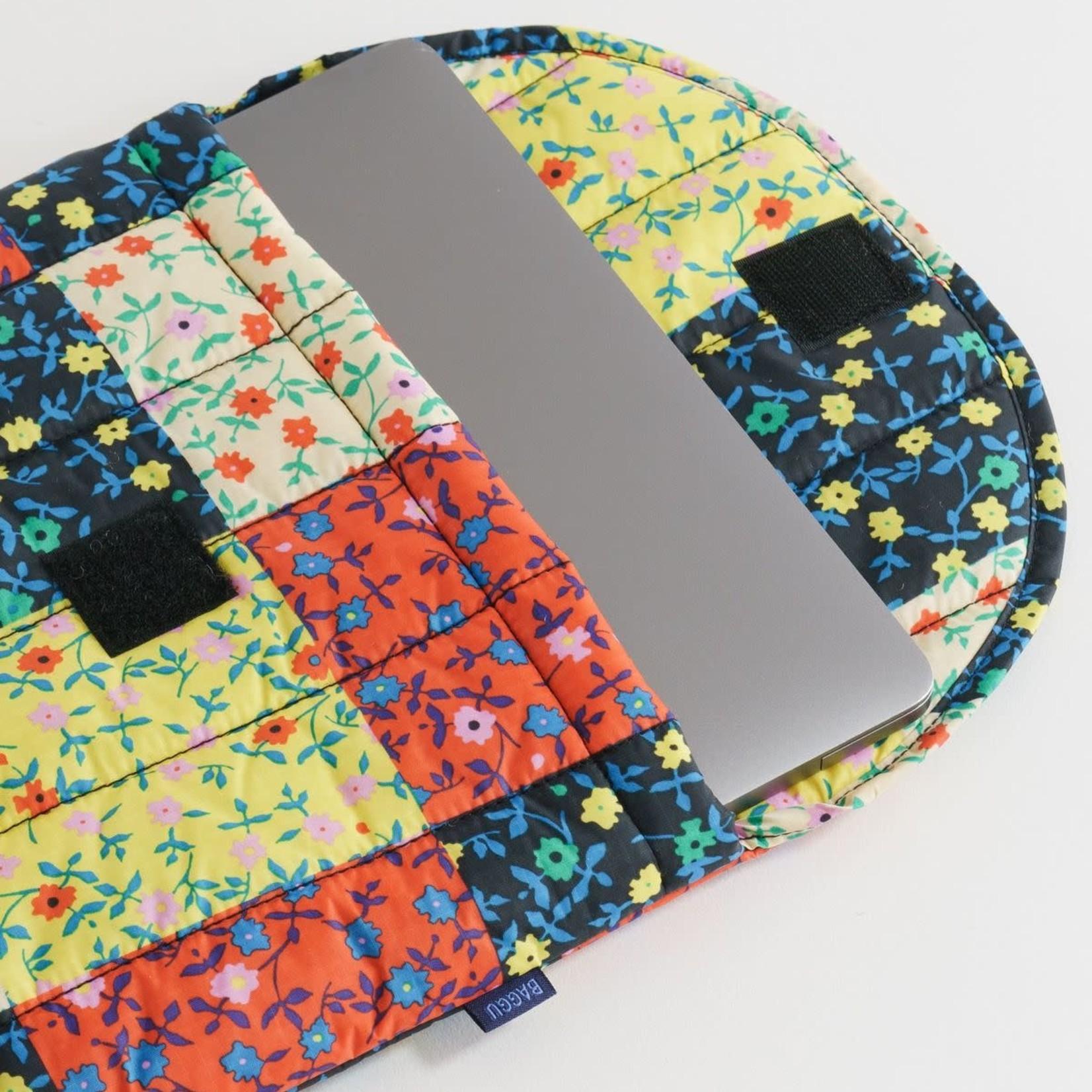 "Baggu Baggu Puffy Laptop Sleeve Calico Block 16"""
