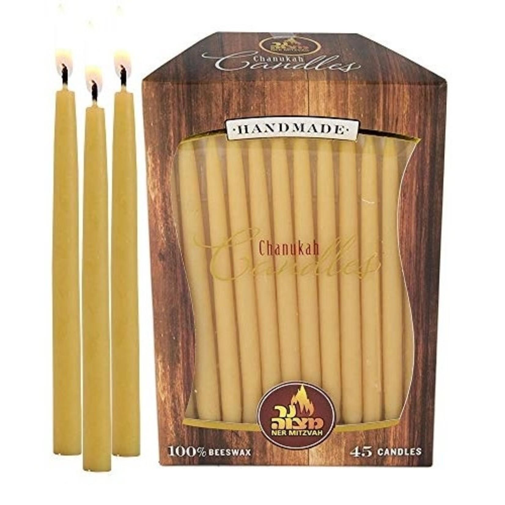 Ner Mitzvah Ner Mitzvah Yellow Handmade Natural Beeswax Hannukah Candles