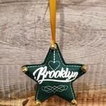 BKLYN Star Ornament Green Brooklyn