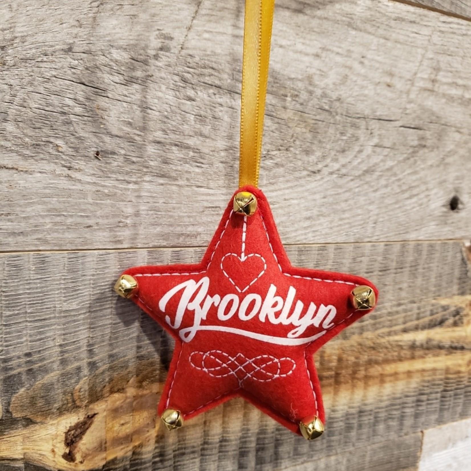 BKLYN Star Ornament Red Brooklyn