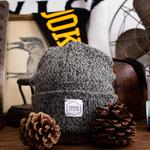 "Upstate Stock Upstate Stock 11"" Beanie Wool/Nylon USA Charcoal"