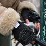 Upstate Stock Upstate Stock Wool Black Convertible Glove/Mitten