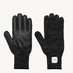 Upstate Stock Upstate Stock Wool Full Finger Gloves Black/Black Deerskin
