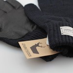 Upstate Stock Upstate Stock Wool Full Finger Gloves Navy/Black Deerskin