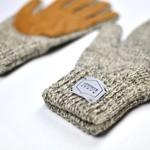 Upstate Stock Upstate Stock Wool Full Finger Gloves Oatmeal/Natural Deerskin