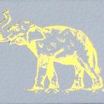 The Joy of Light Joy of Light Matchbook Gold Foil Elephant on White