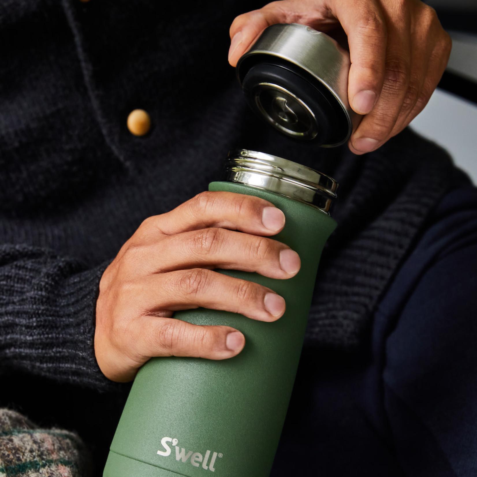 S'well S'well Bottle Traveler 16oz Stone Green Jasper