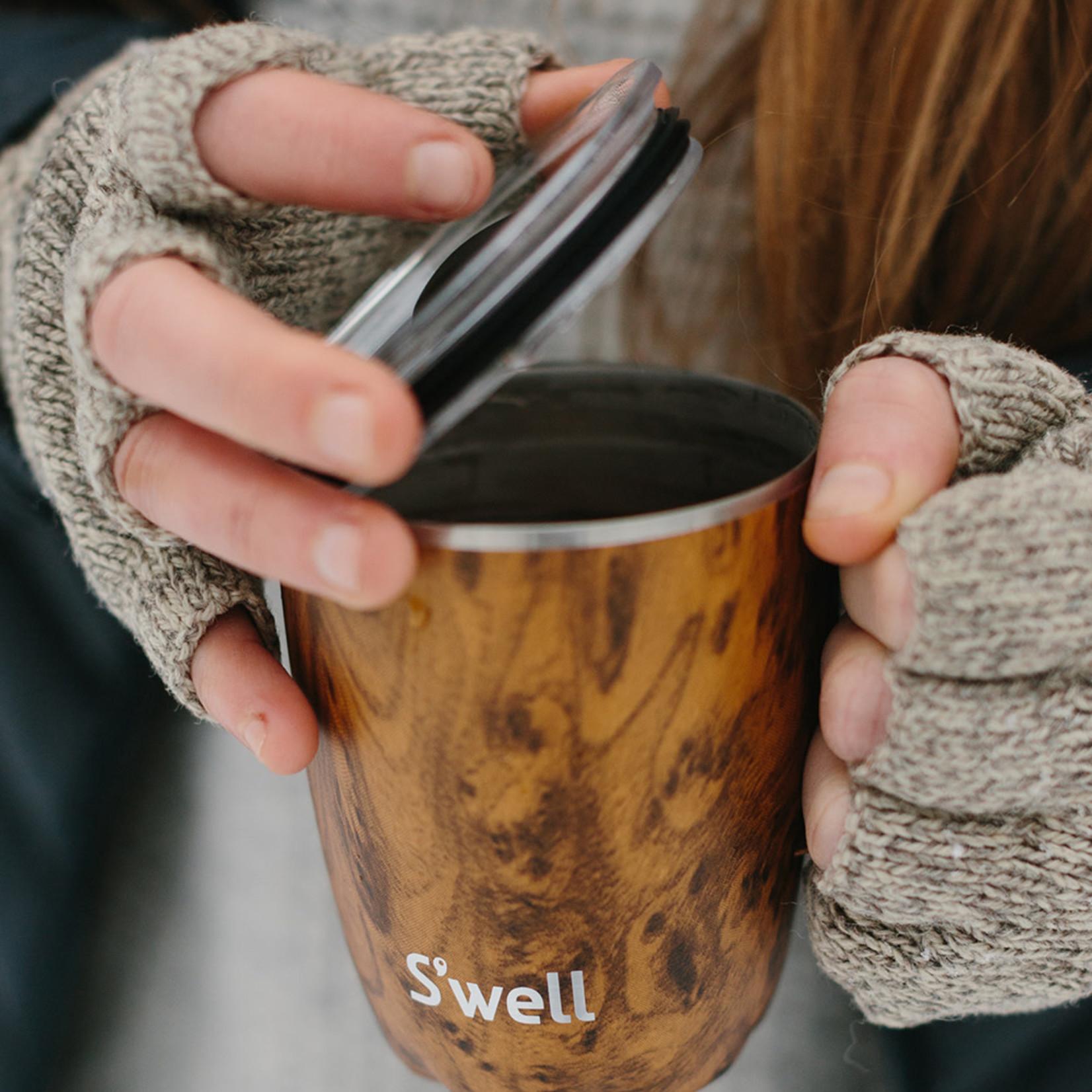 S'well S'well Bottle 12oz Tumbler Mug with Handle/Lid Teakwood