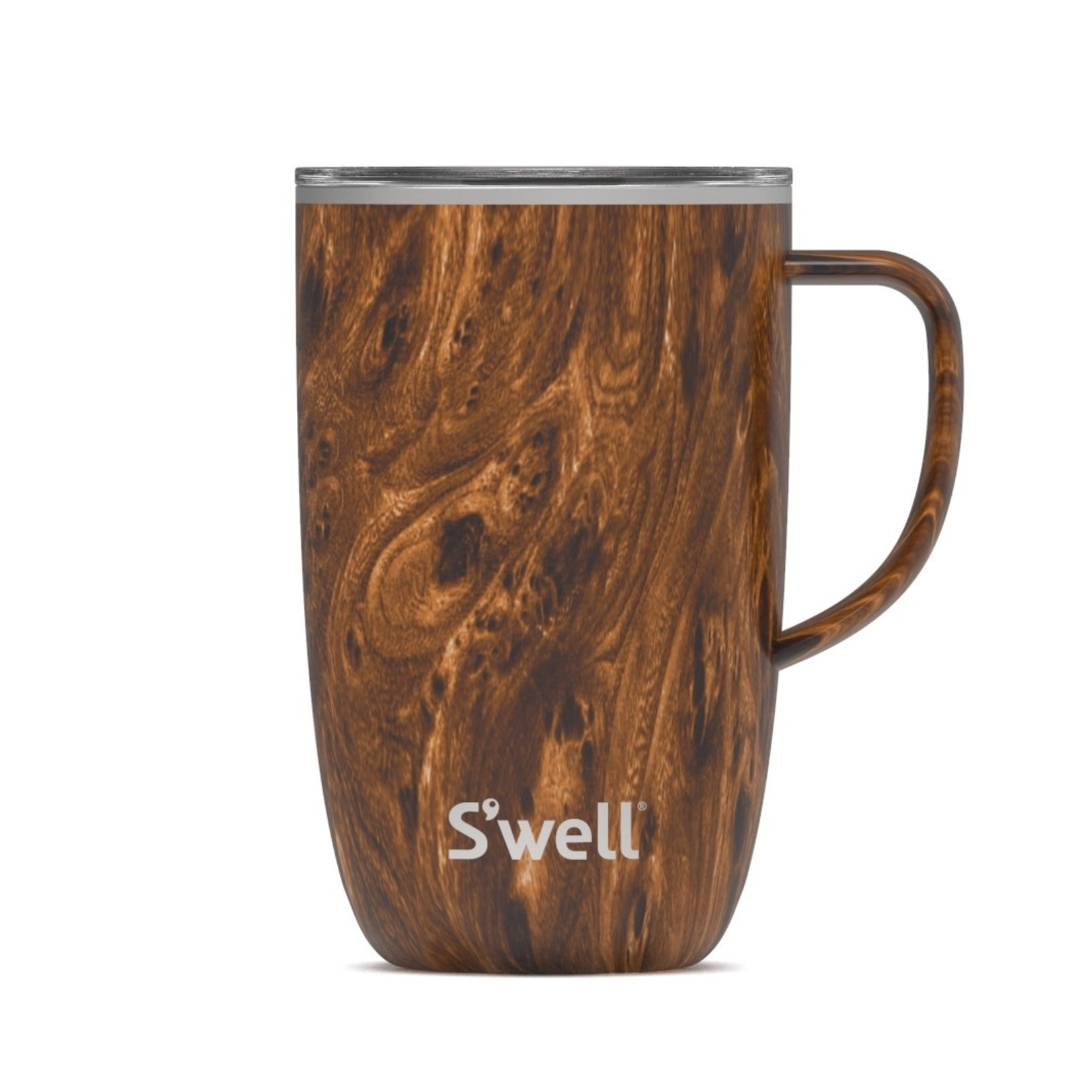S'well S'well Bottle 16oz Tumbler Mug with Handle/Lid Teakwood