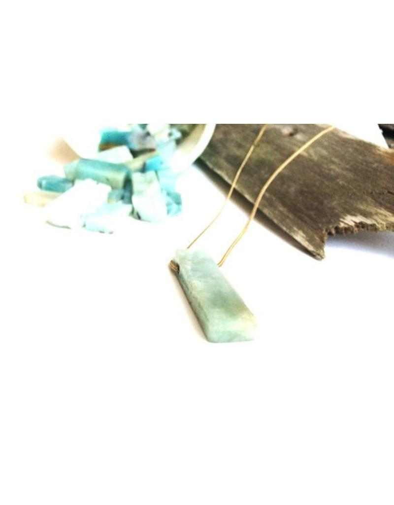 Mana Made Jewelry Mana Made Amazonite Long Stone Necklace | 28""