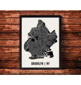 Mr. City Brooklyn Map Artwork Unframed