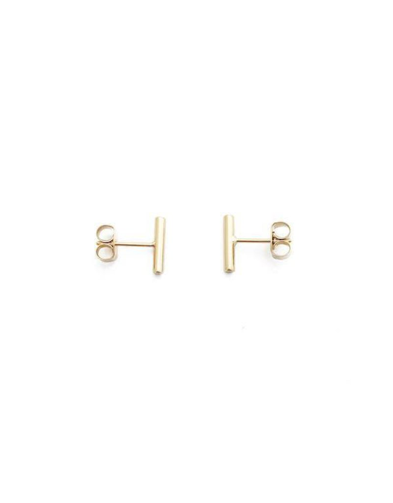 Honeycat Honeycat Midi Round Bar Earrings - Gold