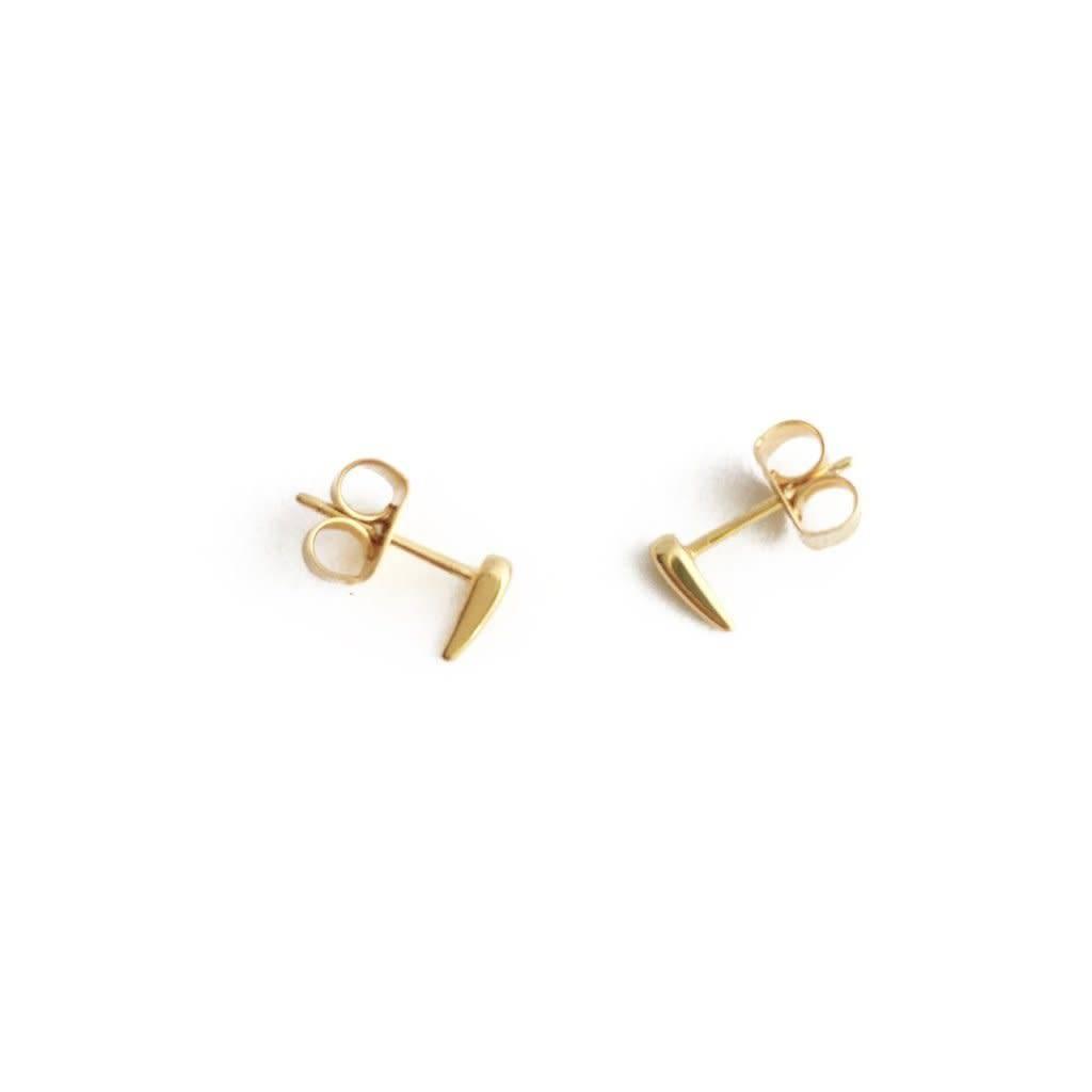 Honeycat Honeycat Tusk Droplet Stud Earrings