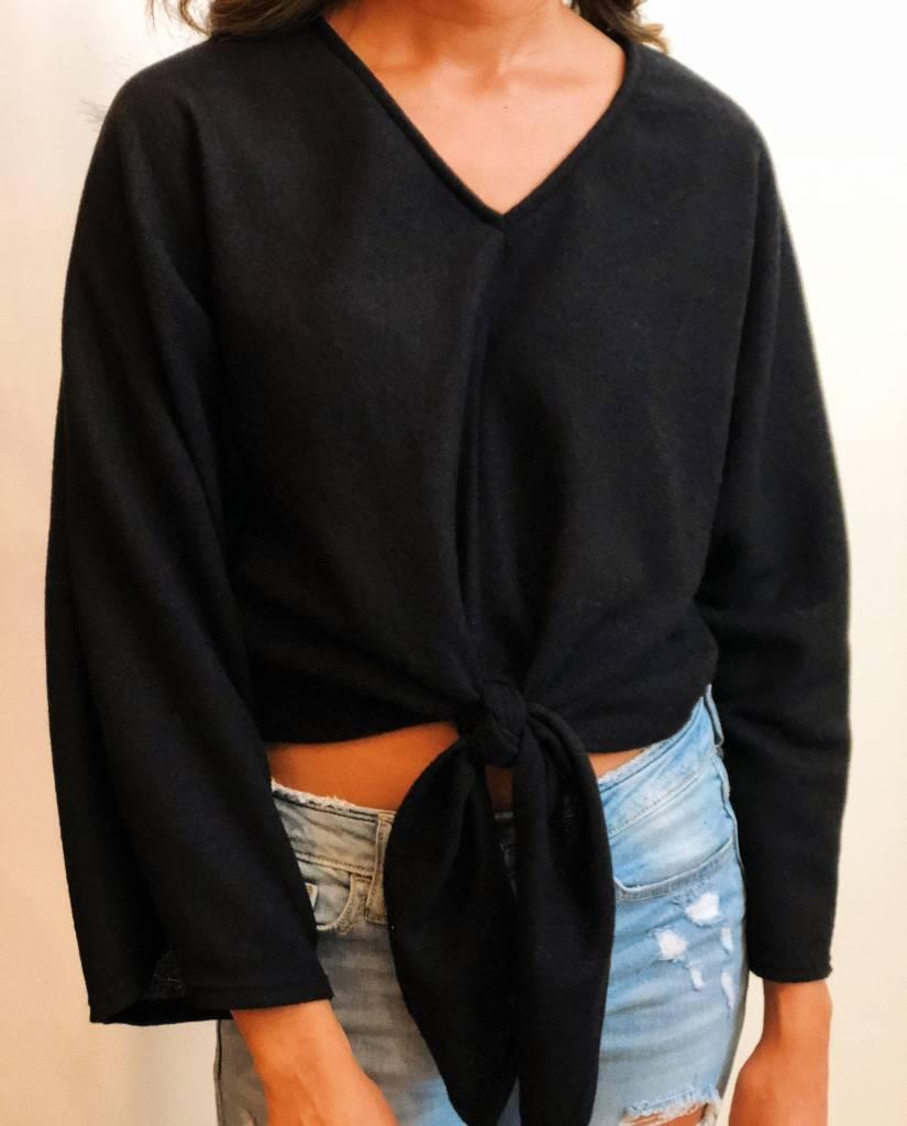 Long Sleeve Tied Sweater Top