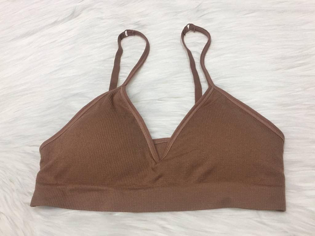 RIBBED TRIANGLE BRALETTE