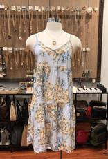 D16348A6 FLORAL BABYDOLL DRESS