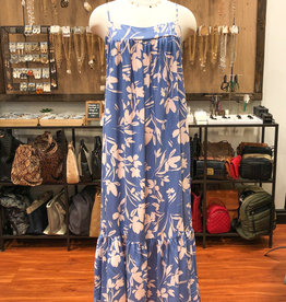 LUSH FLORAL TIERED MAXI DRESS