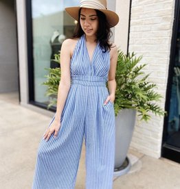 AAKAA SLEEVELESS HALTER JUMPSUIT