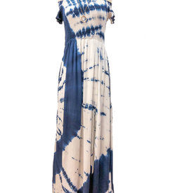 TIE-DYE OFF SHOULDER MAXI DRESS