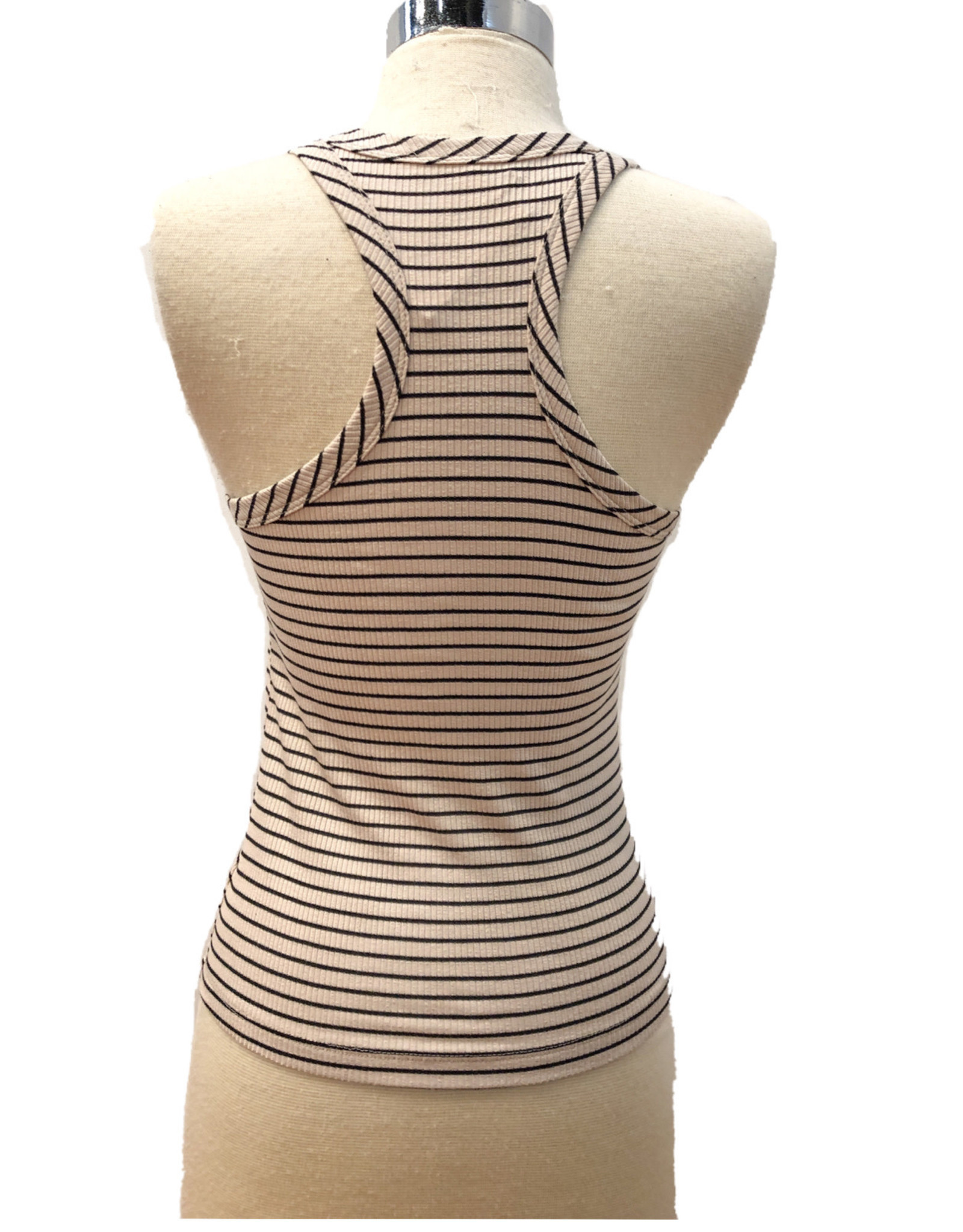 T17352A STRIPED RACER BACK TANK