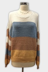 C8161A-R STRIPED PULLOVER SWEATER