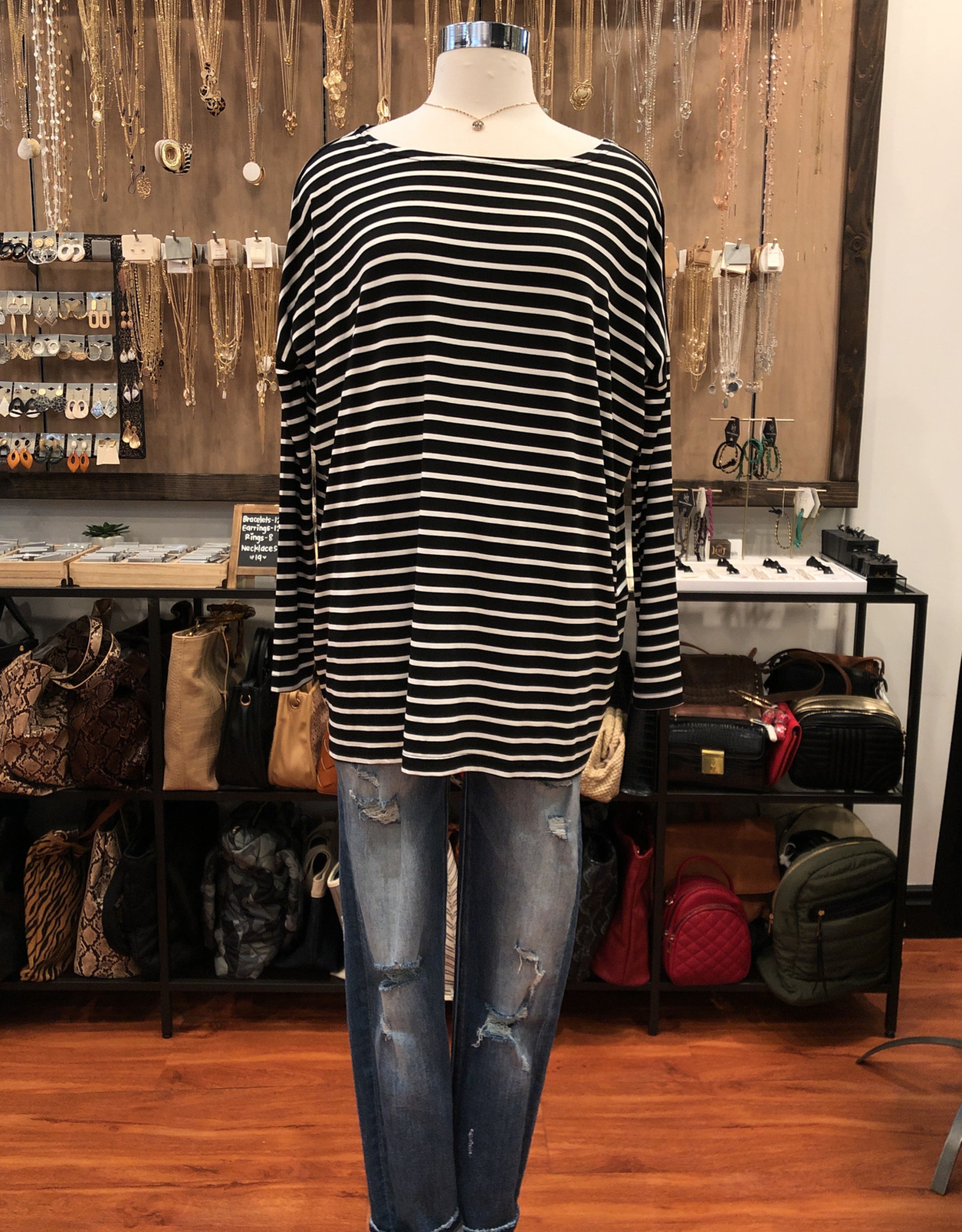 185108 STRIPED KNITTED BLOUSE