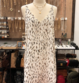 ANIMAL LUREX CAMI DRESS