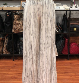SMOCKED WIDE LEG TROUSER