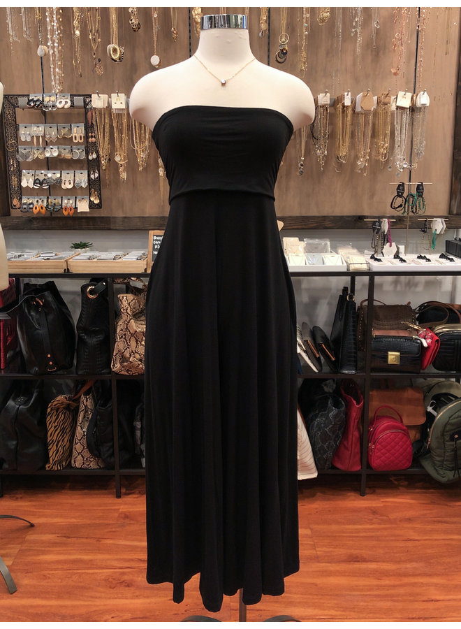 JU16154 TUBE JUMPSUIT WITH POCKETS