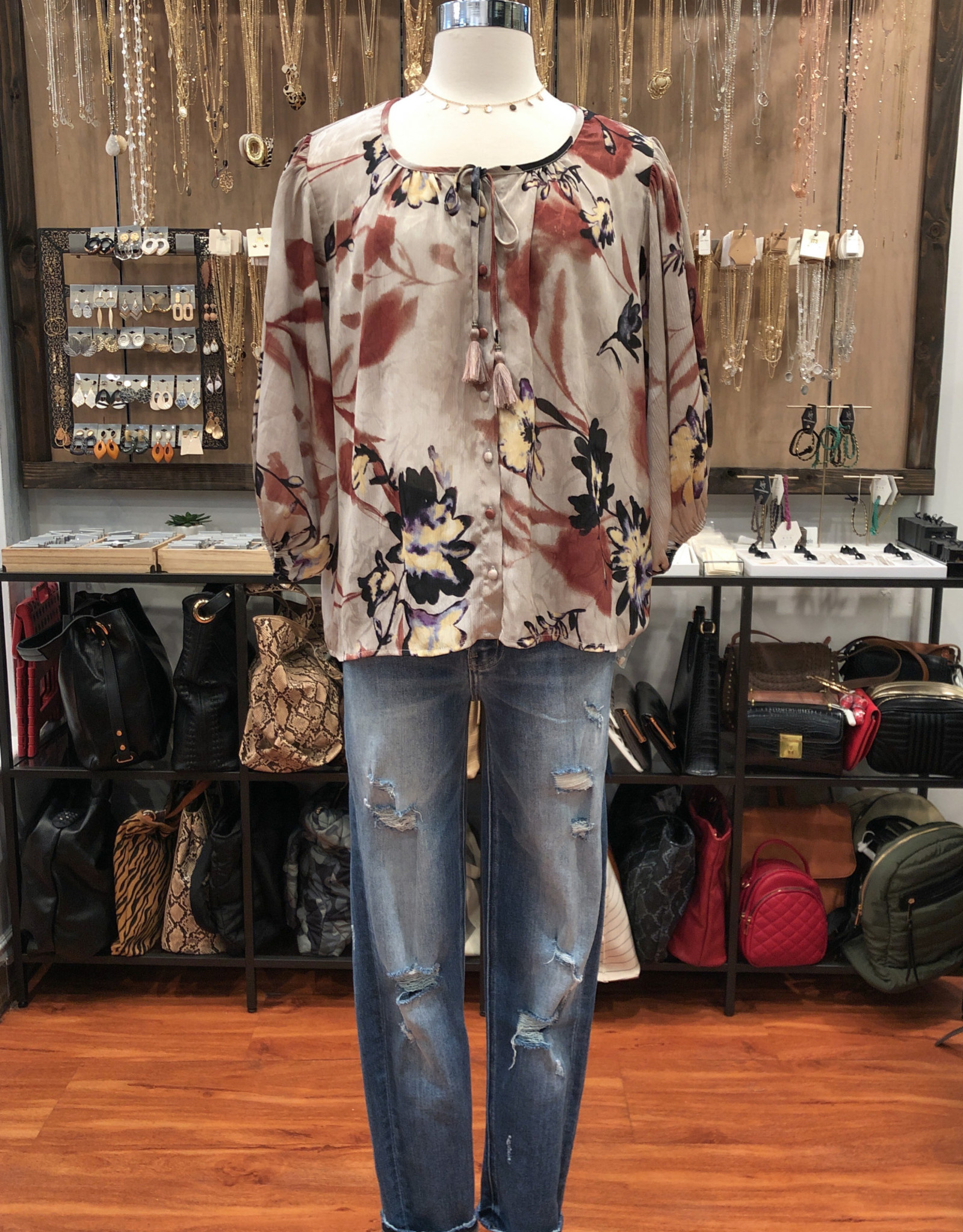 I-12766W-QMX-PC BUTTON UP TOP