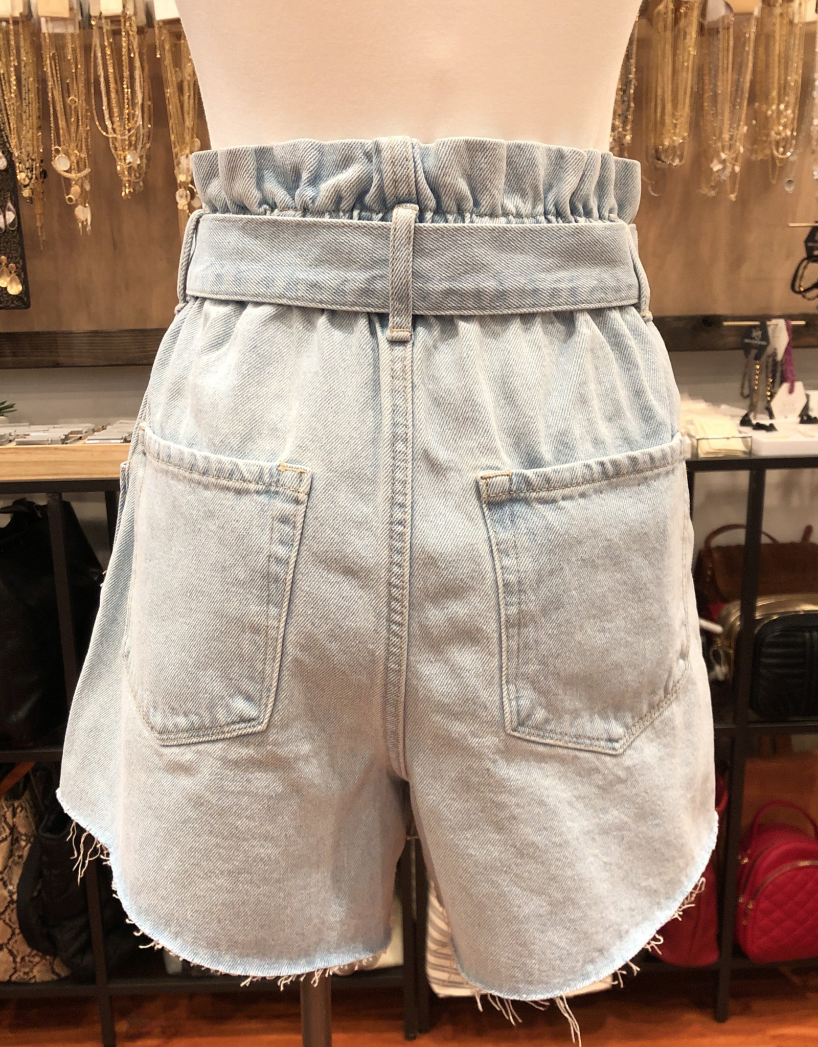 VT876 PAPERBAG MOM SHORTS