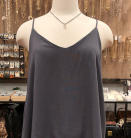 CHALLIS V-NECK  TOP