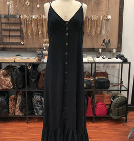 BUTTON CAMI MAXI DRESS