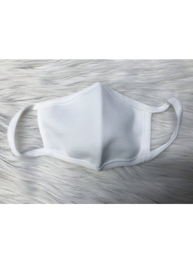 ADULT FACE MASK SOLID WHITE