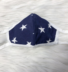 ADULT FACE MASK STARS NAVY