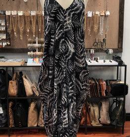 TROPICAL COCOON MAXI DRESS