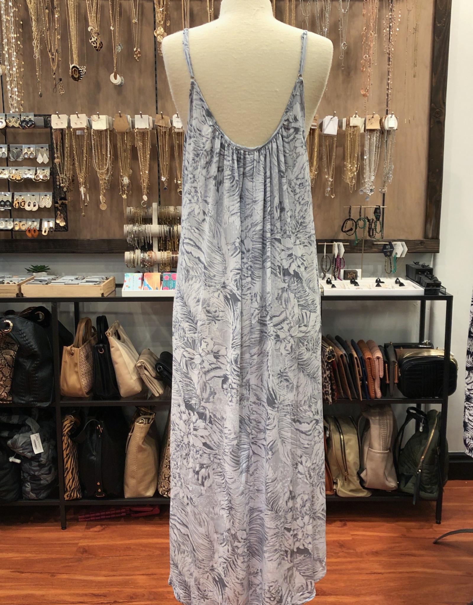 ID10229D FLORAL LOOSE FIT DRESS