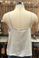 IT7950 BUTTON FRONT SOLID CAMI TOP