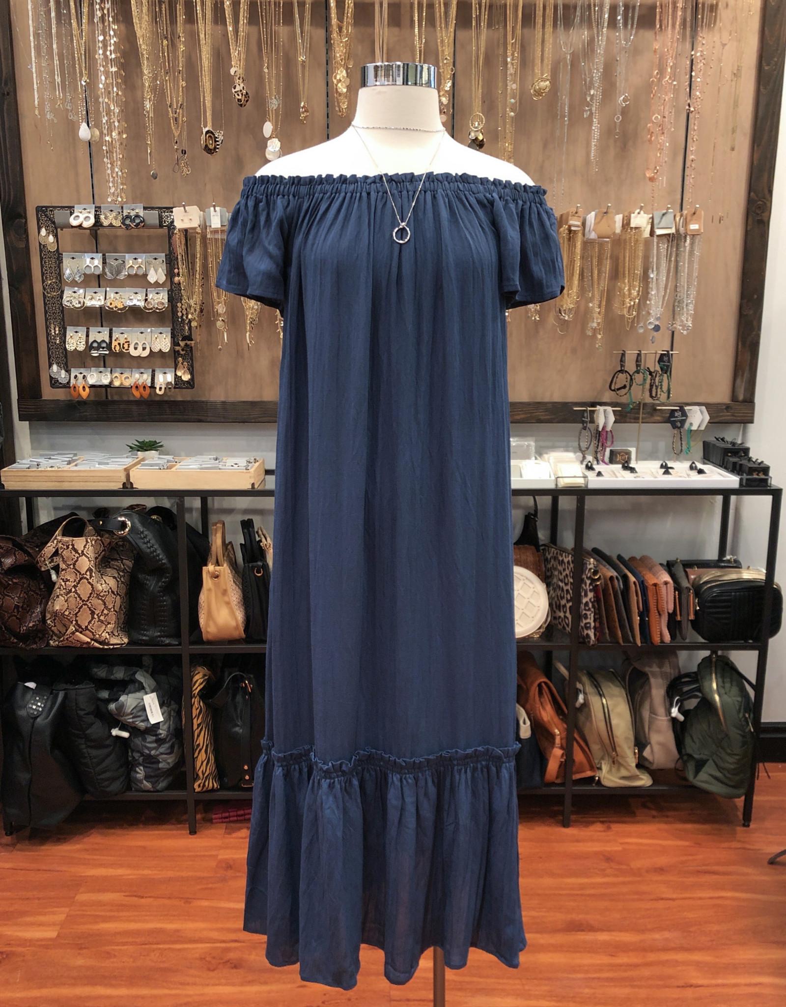 ID50036 OFF SHOULDER MAXI DRESS