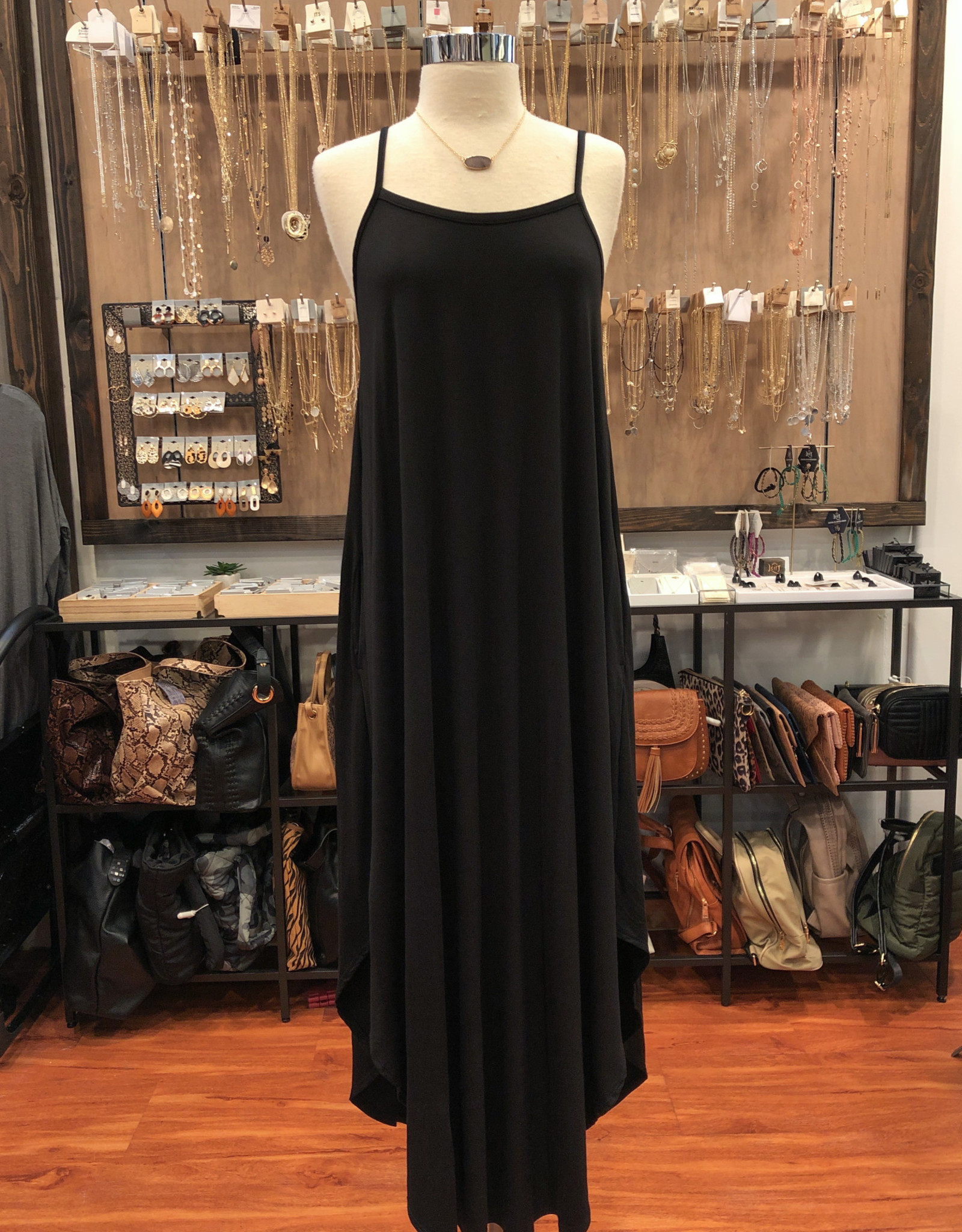 D15752 CAMI DRESS WITH POCKETS