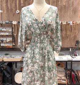 FLORAL SMOCKED WAIST DRESS