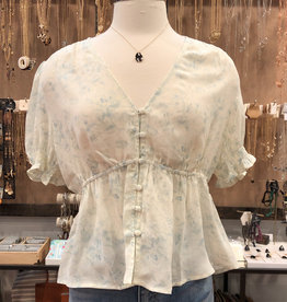 BABYDOLL BUTTON BLOUSE