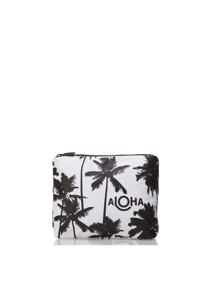 ALOHA COLLECTION SMALL COCO PALMS BLACK ON WHITE