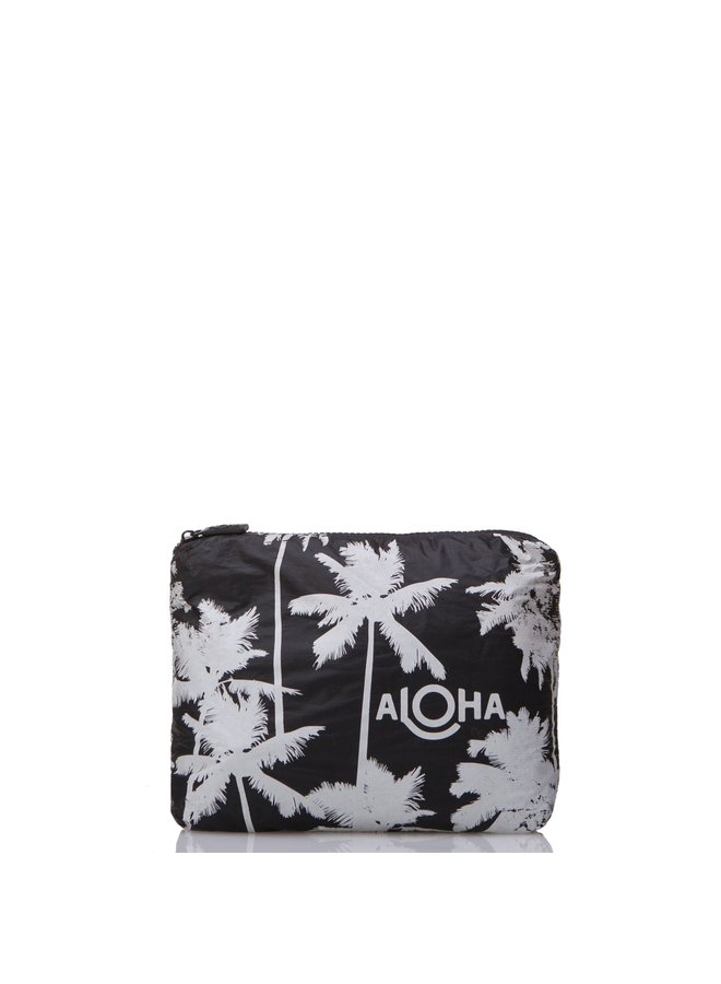 ALOHA COLLECTION SMALL COCO PALMS WHITE ON BLACK