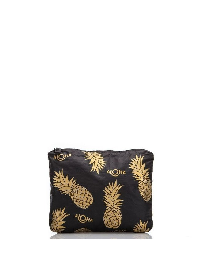 ALOHA COLLECTION SMALL PINEAPPLE FIELDS BLACK
